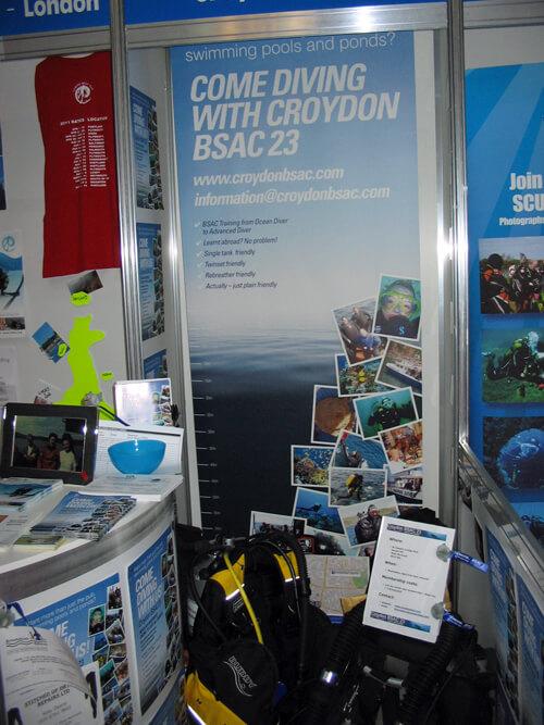 Croydon BSAC's Pod at the Big Scuba Show 2010