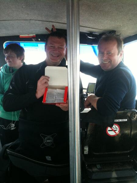 "Venture skipper in ""fresh box of teabags"" shocker!!!!!!"