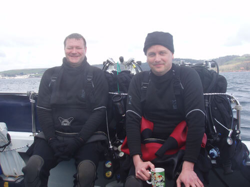 Paul and Jeremy between dives.