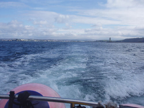 Heading out of Plymouth Sound.
