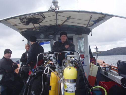 Martin, Ady, Jason and Kris between dives.